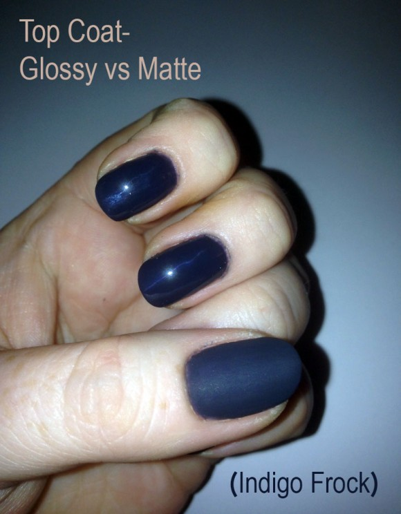 Glossy vs Matte Top Coat copy
